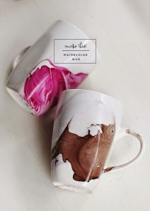 diy watercolor mug